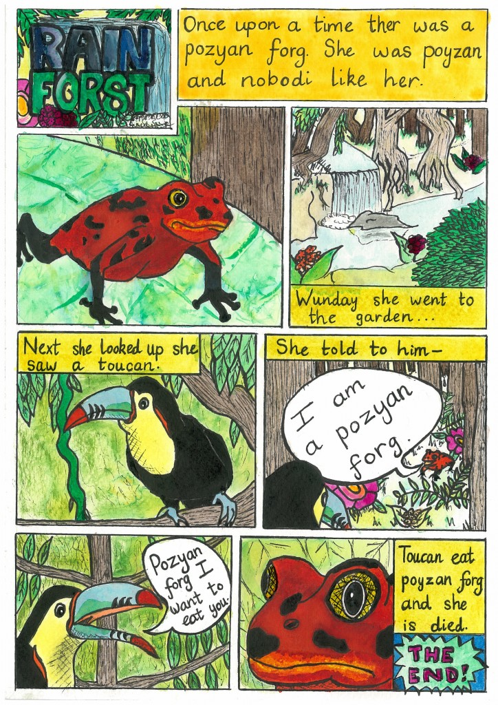 illustrated story about a frog